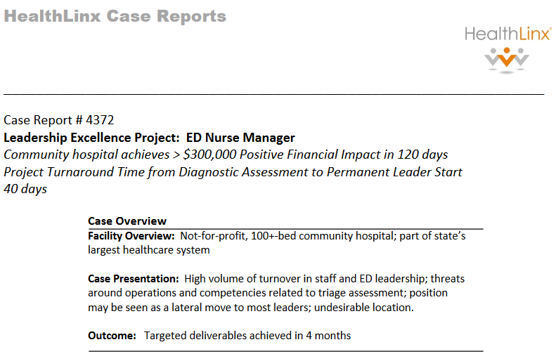 nursing leadership case study Thanks for visiting leadership and nursing care management (3rd ed) iowa city, io: editor's note: the following case studies and scenarios can be used with new graduate nurses to examine how, when, and why to delegate tasks learning activity #1.