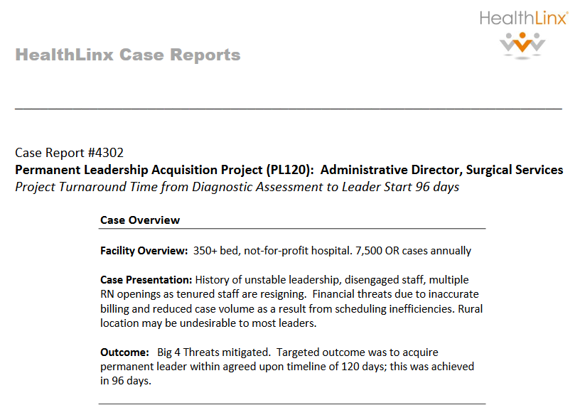 Administrative Director Surgical Services - HealthLinx